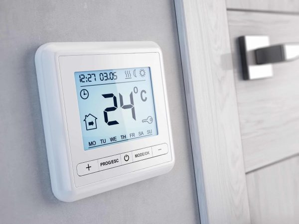 Modern digital programmable Thermostat – 3d render